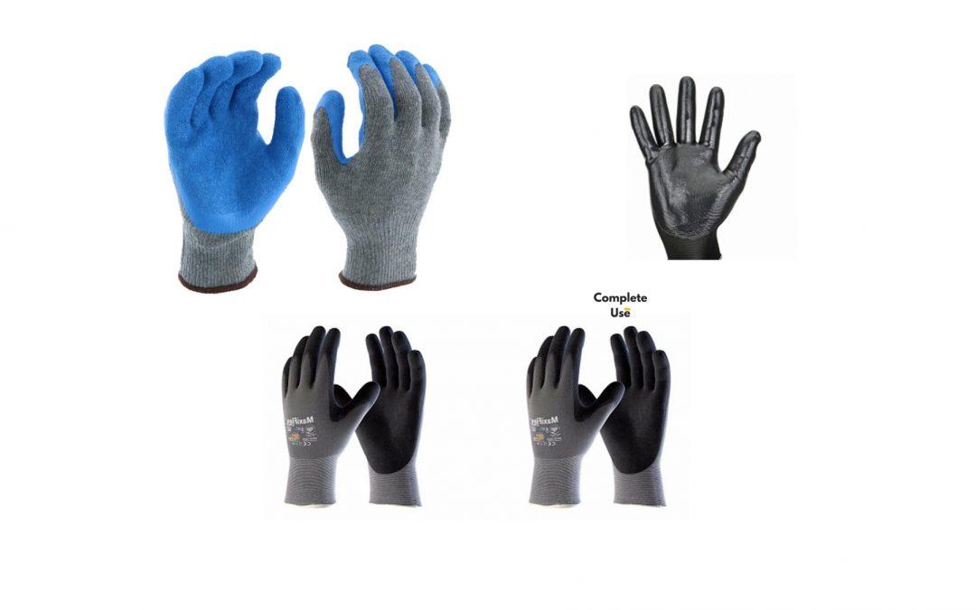 Glove Types: Nitrile Coated VS Latex Coated VS PU Coated