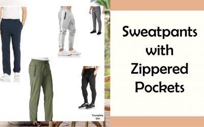 Top 8 Sweatpants with Zipper Pockets