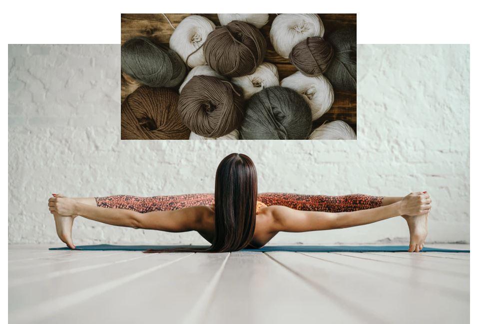 stretching wool